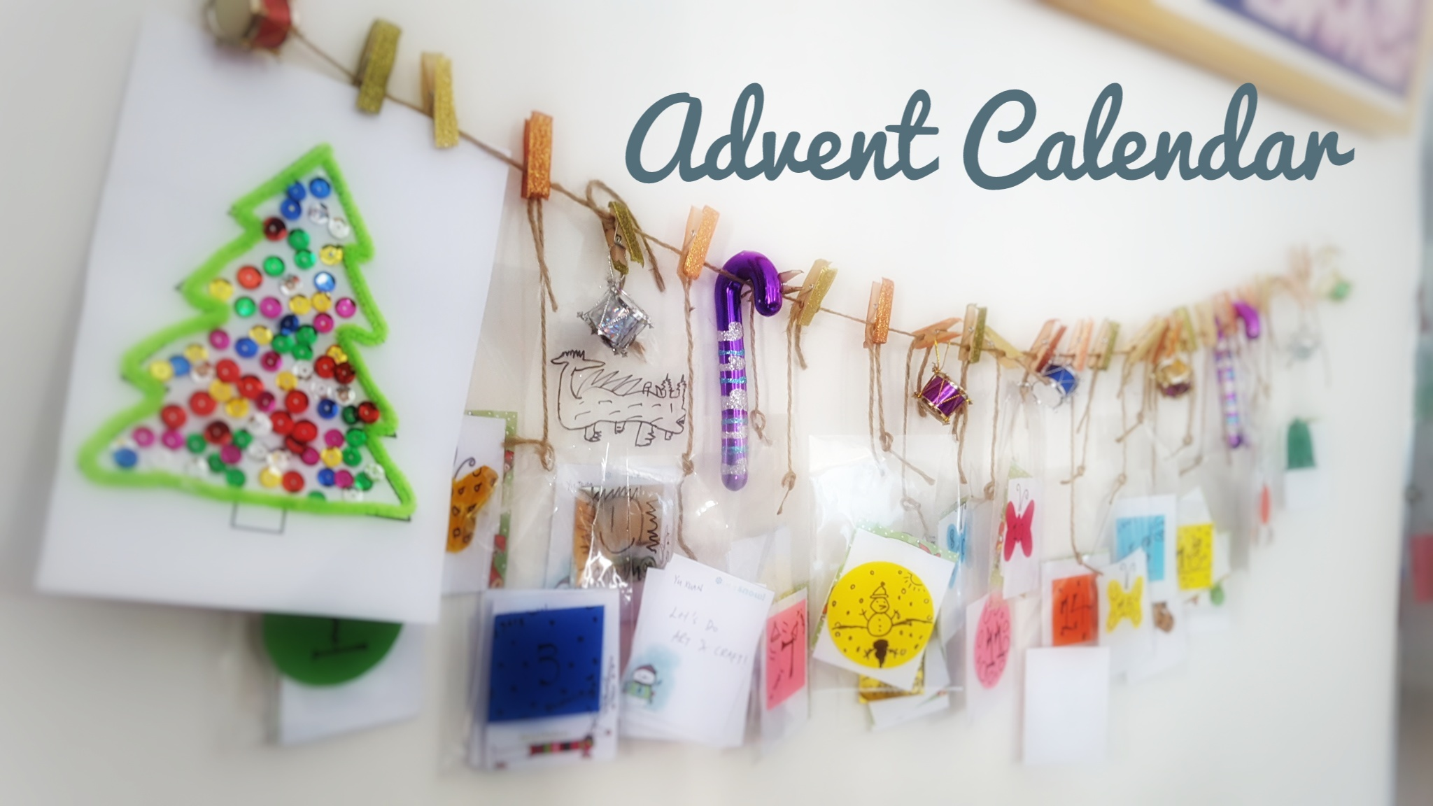 Advent Calendar Ideas Early Years : Our hand made advent calendar with activities kids r